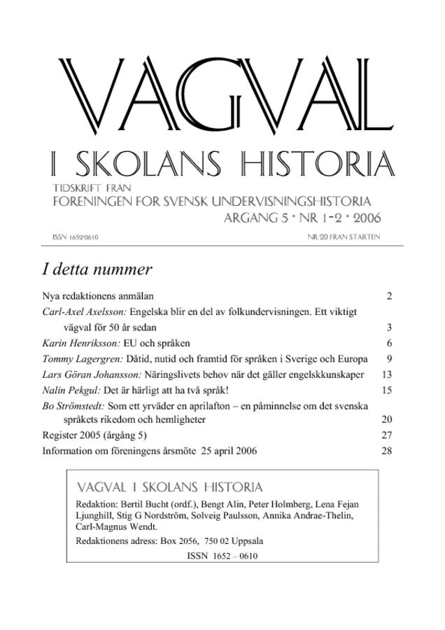 Preview of file Vagval_2006_nr_1-2.pdf at http://www.tam-arkiv.se/share/proxy/alfresco-noauth/tam/content/workspace/SpacesStore/b2f0b543-8f65-472c-bd15-aa597f8b0af6 with style overlay_preview is not available.