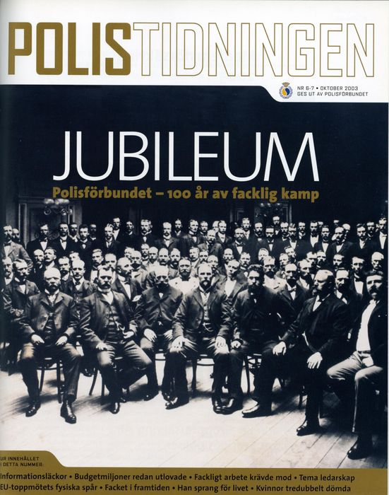 Preview of file w_TAM-Arkiv_Polisförbundet_106_L2-53_Polisförbundet_100_år_artikel_i_Polistidningen_nr_6-7_2003.pdf at http://www.tam-arkiv.se/share/proxy/alfresco-noauth/tam/content/workspace/SpacesStore/bd3a4c43-b6c3-4fc5-b2bc-bfc53cb09f6b with style overlay_preview is not available.